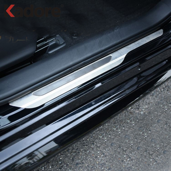For Toyota Corolla 2019 Hatchback Stainless Steel New Door Sill Scuff Plates Doors Sills Protectors Car Thresholds Sticker