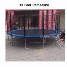 16 футов практичный батут с безопасной защитная сетка прыгать безопасный Комплект Весна безопасности с лестницей высокое качество нагрузки Вес 700 кг