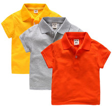 New Unisex Boy Girl Polo shirts for Kids Summer Toddler Tops Girls  Polo shirt Cotton Blue shirts Cotton Clothes Short Sleeve