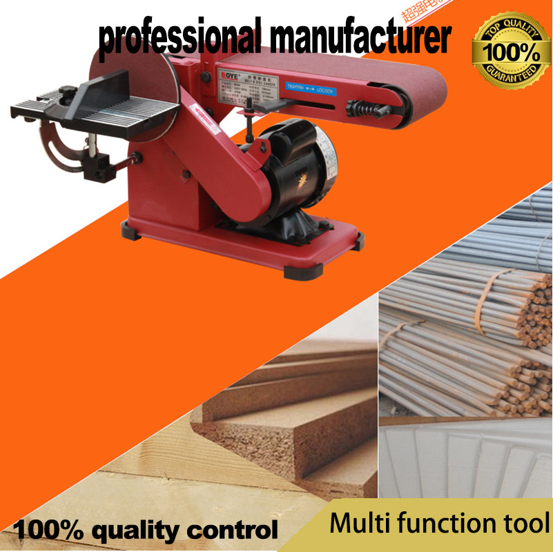 Abrasive belt machine multi-function desktop vertical polishing machine woodworking chamfering machine mini vertical type abrasive belt machine polishing grinding small bench 915 sand belt