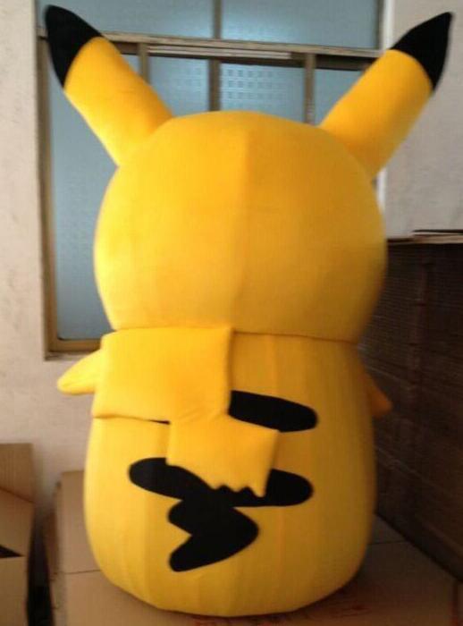 Pikachu Pokemon maskotti puku fancy mekko asu ilmainen - Carnival puvut - Valokuva 6