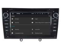 Android 7 1 Car Dvd Navi Player FOR PEUGEOT 408 Black Audio Multimedia Auto Stereo Support