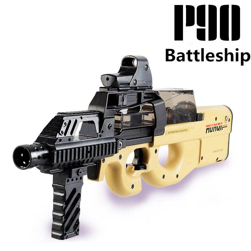 P90 jouet électrique PISTOLET balle en eau Éclate Pistolet CS Live D'assaut Snipe Arme En Plein Air Pistolet Jouets lepin - 4
