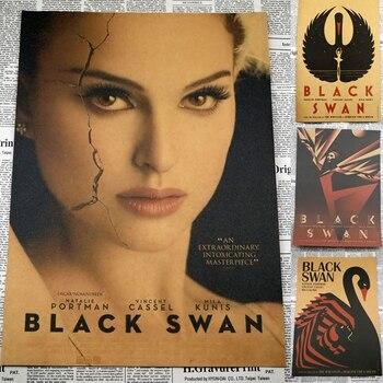 Czarny łabędź Mila Kunis Retro Retro classic wyposażenie domu dekoracja plakat filmowy Kraft grafika naklejki ścienne