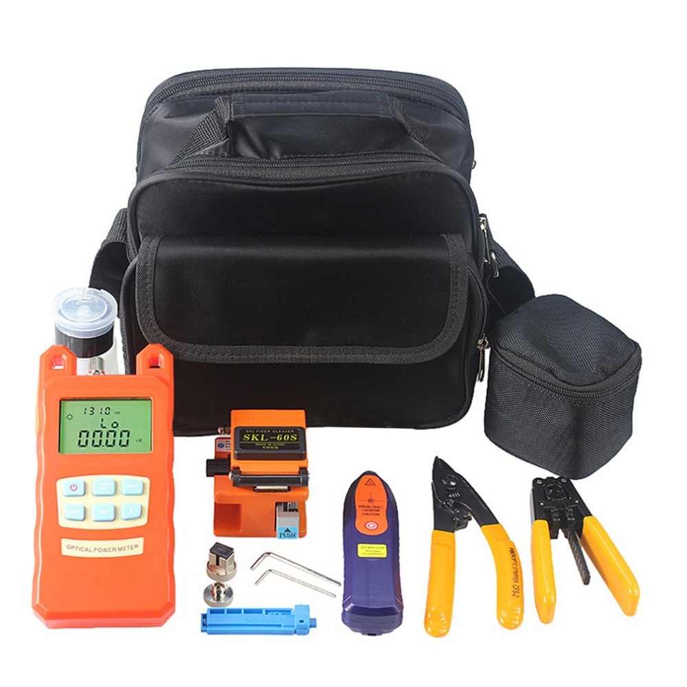 Practical 22pcs Fiber Optic FTTH Tool Kit SKL-60S Fiber Cleaver Optical Power Meter Visual Fault Locator TesterPractical 22pcs Fiber Optic FTTH Tool Kit SKL-60S Fiber Cleaver Optical Power Meter Visual Fault Locator Tester