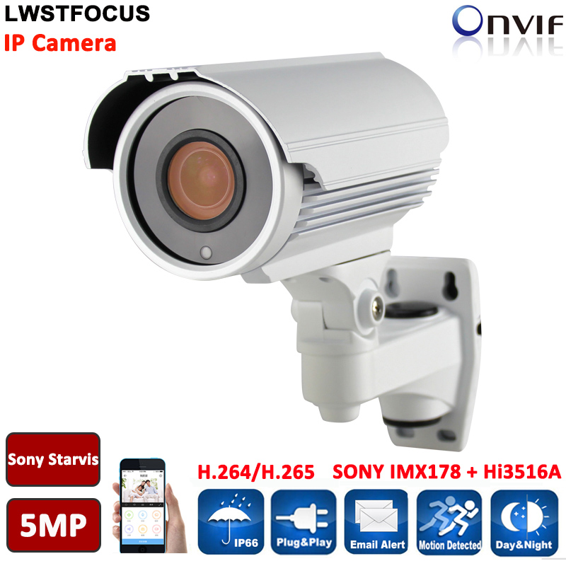 LWSTFOCUS H.265/264 5MP 2592(H)*1944(V) Network IP Camera Sony IMX178+Hi3516A Bullet Camera HD 6MP 3.6mm lens POE IR 40M Onvif lwstfocus h 265 264 ipc hd 4mp network ip camera ov4689 hi3516d security cctv bullet camera support poe lwbp60s400 ir 60m onvif
