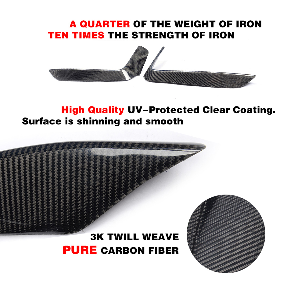 P Style Real Carbon Fiber Front Top Splitter 1pair For BMW F32 M Tech 14UP b399