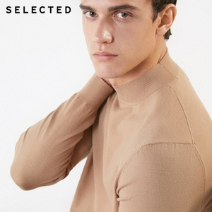 Image 5 - SELECTED Mens Pure Color Pullovers Turtleneck Base Knitted Autumn Sweater Clothes S