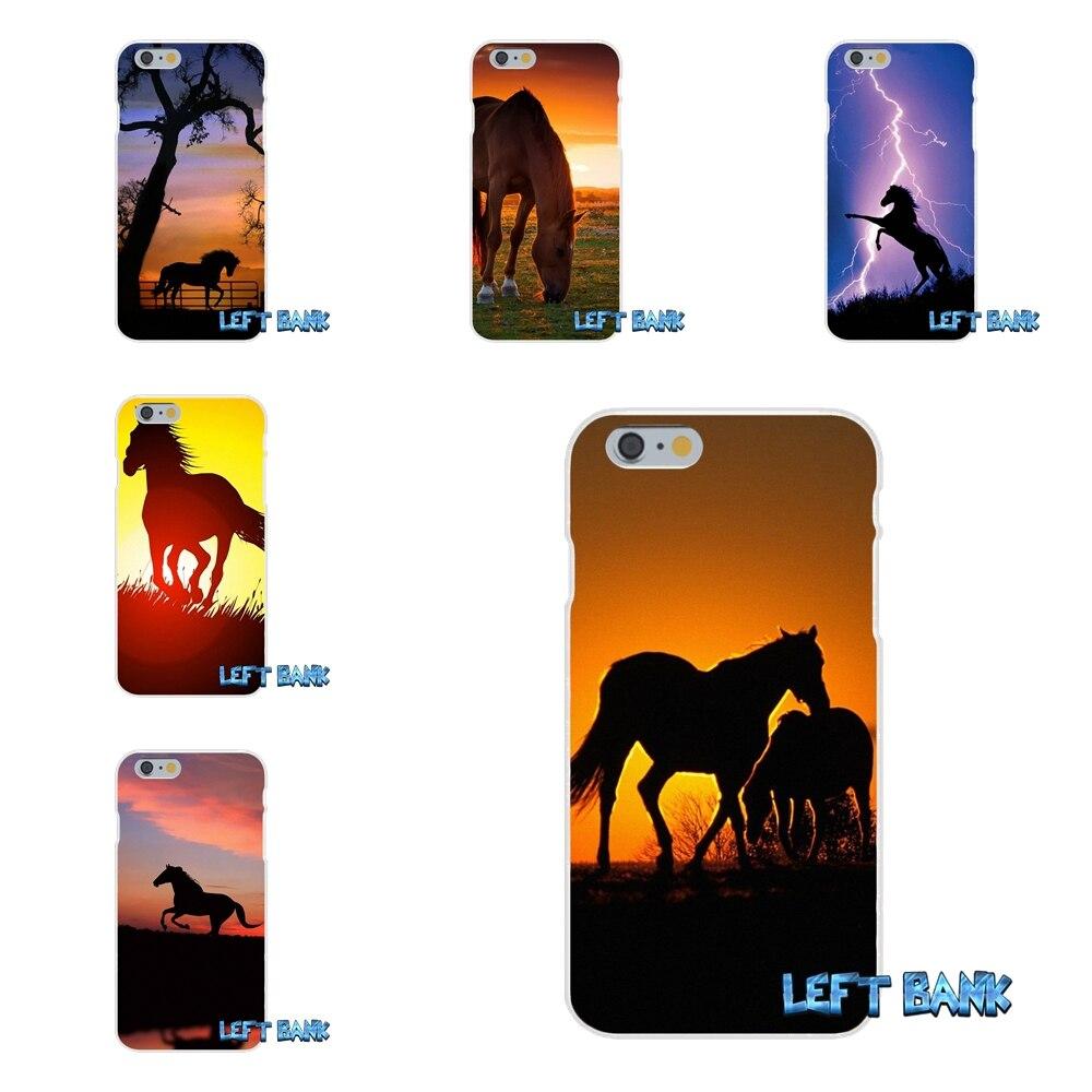 Horse Silhouette on Mountain Range Slim Silicone Phone Case For Xiaomi Redmi 2 4 3 3S Pro Mi3 Mi4 Mi4C Mi5S Mi Max Note 2 3 4