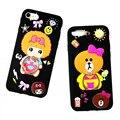 Coreano estilo silicone case para iphone 7 7 plus borracha macia tampa do telefone para iphone 6 6 s plus 5S se back case com suporte anel de corda