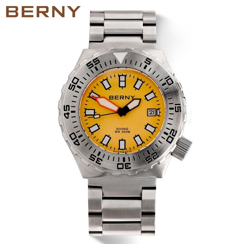 51fe9a62108 Homens Relógio Mecânico Automático Mens Relógios Berny Moda Top Marca de  Luxo Relogio Masculino Montre Saat