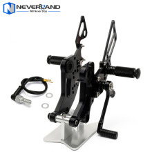CNC Adjustable Rear Sets Rearset Footrest Foot Rest Pegs For DUCATI Monster 796 Black