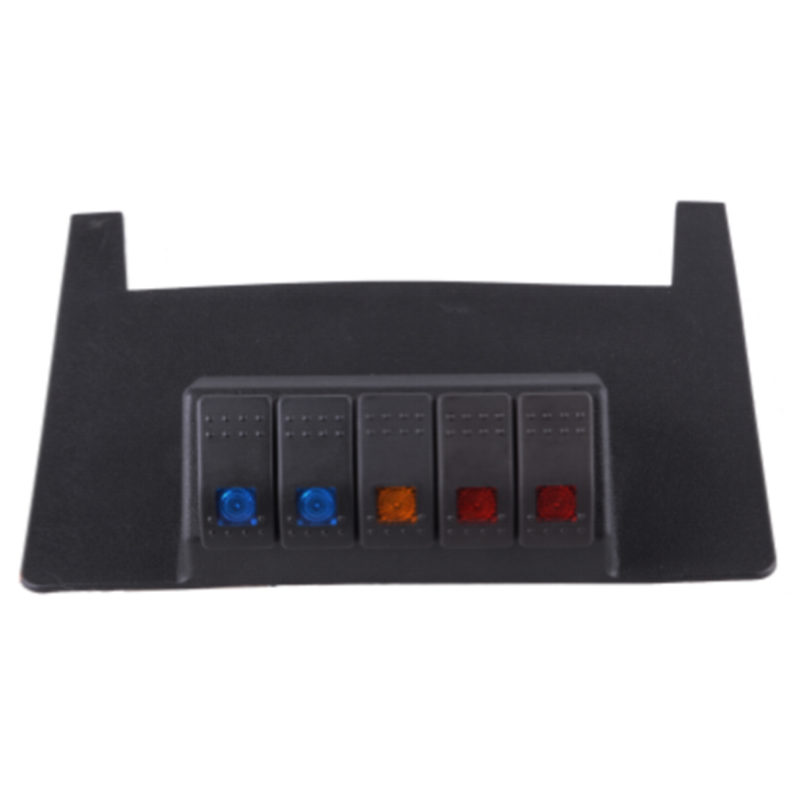 For Jeep JK Wrangler Lower Switch Panel 5 Rocker Style Switches Fits 2011 to 2015 Jeep