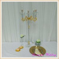 85CM tall wedding centerpiece crystal candle holder Candelabra for Wedding decoration event party decoration