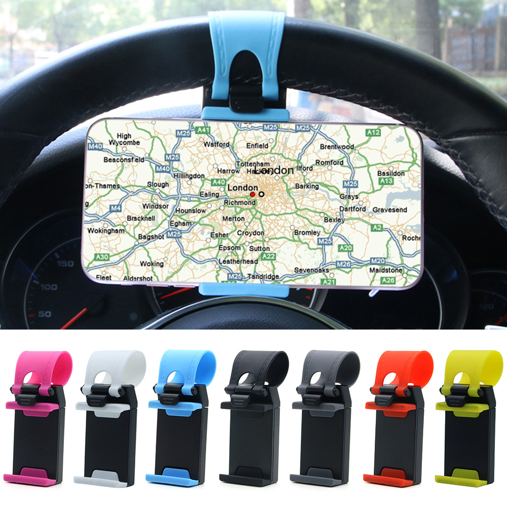 Universal Car Phone Holder Steering Wheel Bike Clip Mount Mobile Phone Stand Auto Mount Holder Stand for Cell Phone GPS universal stand car steering wheel clip mount holder for mobile phone gps accessories