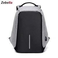 Zebella Classic Men S Backpack Anti Theft Men Shoulder Travel Bags Fashion Men Business Laptop Bag