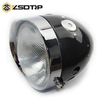 ZSDTRP Retro motorcycle Old stock original black color headlight comp case For BMW R50 R1 R12 R 71 M1 Ural CJ K750