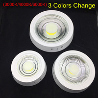 9W 15W 25W Round Surface LED Ceiling Light Panel Light Down Light 85 265V 3 Colors Change (3000K/4000K/6000K) LED indoor Light