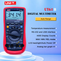 UT61B UNI T Digital Multimeter Auto Range RS232 USB PC Software Data Hold Temperature Auto Power Off Best Accuracy 1% Multimetro