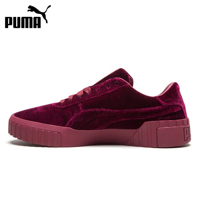 Original New Arrival 2019 PUMA Cali Velvet  Women's  Skateboarding Shoes Sneakers