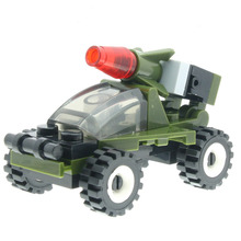 24 Pçs/set Foguete Carro Blindado Modelo Designer de Brinquedos para Crianças Modelo de Construção Kits Construtor Compatível com Todas As Marcas