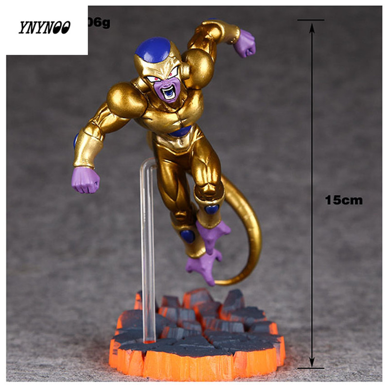 YNYNOO Anime New Dragon Ball Freezer Golden Figuarts PVC Action Figure Dragon Ball Z Model Toy 15cm K218 ynynoo to love darkness yuuki mikan action figure wedding dress underwear ver mikan yuuki pvc figure toy brinquedos anime 24cm