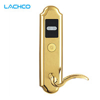 LACHCO Hotel Lock Digital Promotion Intelligent Electronic RFID Card Door Lock with Key for Hotel Home Apartment Office L16016SG