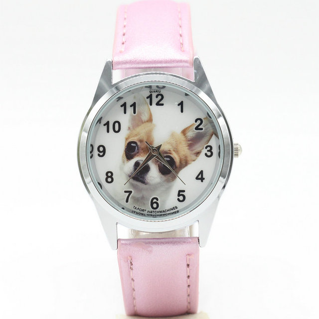 dog watches Women Relojes Mujer 2017 Cute Clock Famous Bracelet PU Leather Ladie