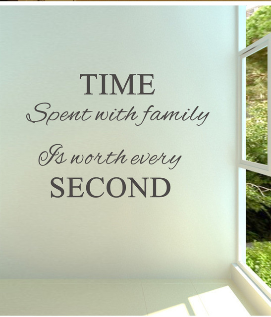 Time spent with family is worth every 02 vinyl wall decals quotes sayings word on wall