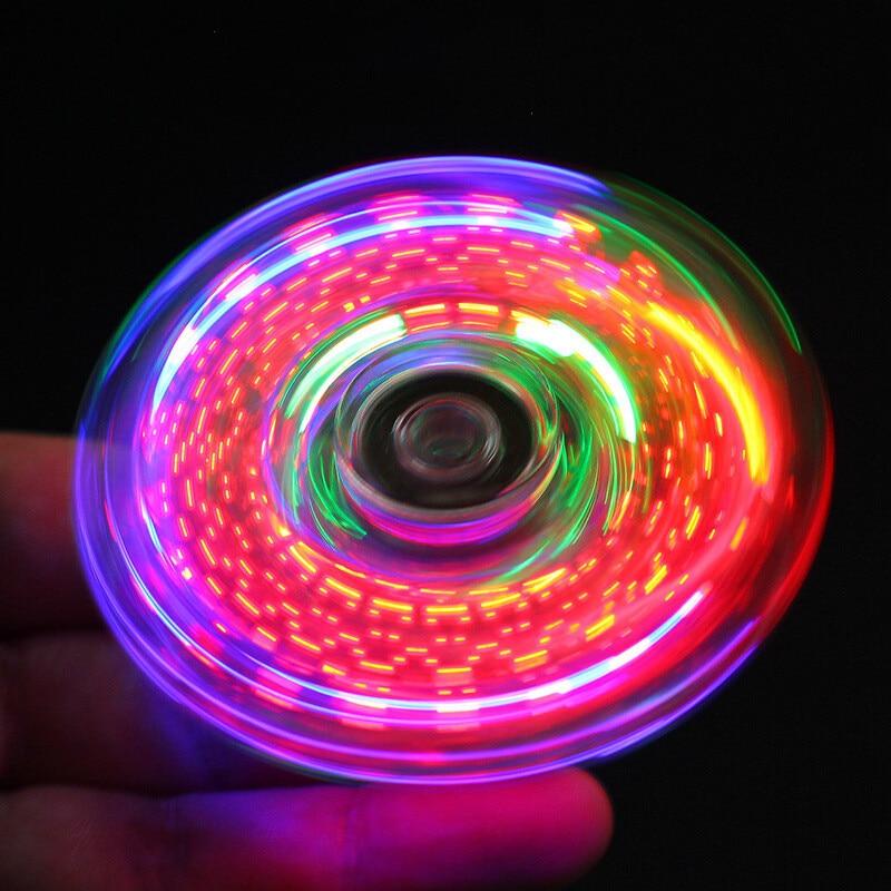 Clearance SaleFidget Spinner Relief-Toys Led-Light Stress Transparent-Pattern Kids Luminous Creative