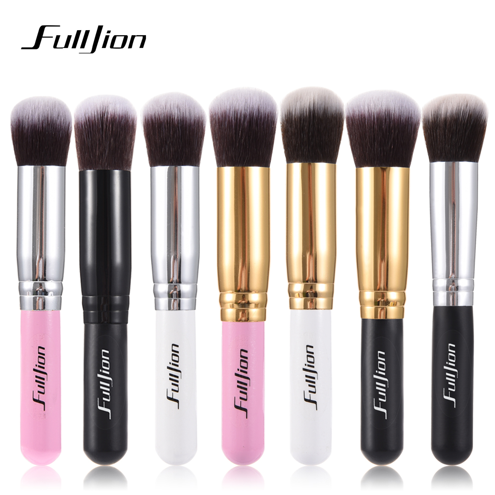 Fulljion Blush Brush Multi-function Blush Foundation Powder Makeup Brushes Portable Wood Handle Synthetic Hair Makeup Tools 1pcs fulljion 1pcs oblique head blush brush multi function foundation powder makeup brushes cosmetics tools wood handle 7 colors