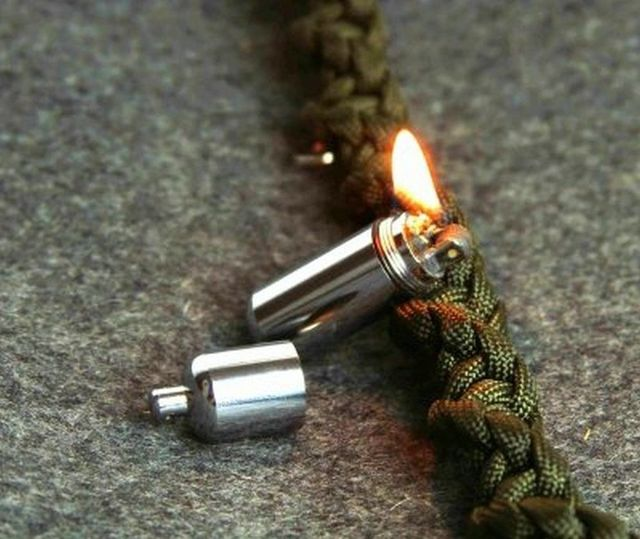 Keychain Waterproof Fire Starter Capsule Oil Petrol Gas
