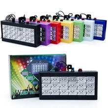 Mini DMX Sound Control 18 RGB LED Disco Party DJ Light Show LED Strobe Grille Lamp Home Entertainment Projector Lighting