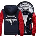 Hot New Metallica Cosplay Coat Hoodie Winter Fleece Unisex Thicken Jacket Sweatshirts  Free Shipping