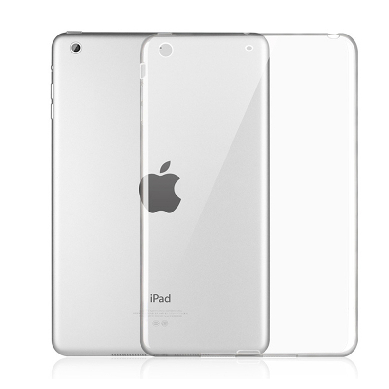Soft Transparent TPU Silicon Back Tablet Cover Case for iPad mini 123 Mini4 iPad 234 Air 1/2 iPad 5 iPad 6 Pro 9.7 +Stylus Pen tpu tablet back cover case for ipad air 2