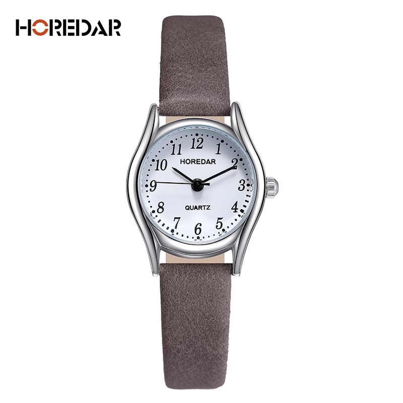 где купить HOREDAR Fashion Watches Women Retro Small Dial Roma Scale Casual Watch High Quality Women Quartz Wristwatch female clock дешево