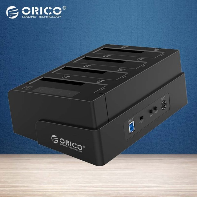 ORICO USB 3.0 to SATA 4 Bay External HDD Docking Station For 2.5&3.5 Inch HDD/SSD 4bay Hard Drive HDD Duplicator/Cloner Function