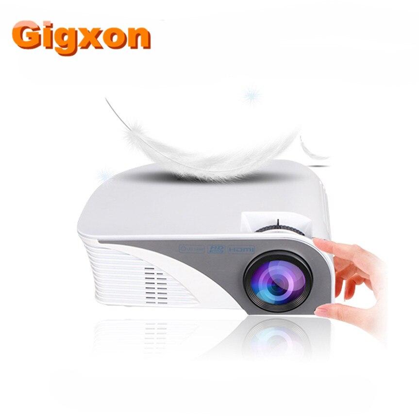 Gigxon-G8005B NUEVO Producto de moda mini proyector grande 7d cine proyector 4 K