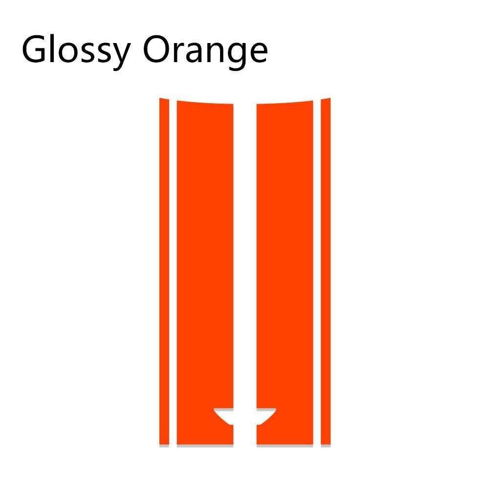 Автомобильный стиль, наклейка на голову, капот, наклейки в полоску для MINI Cooper S One, земляк, Clubman R55 R56 R60 R61 F54 F55 F56 F60, аксессуары - Название цвета: Orange