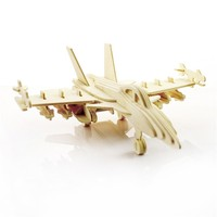 Jigsaw Toys Wooden Kids 3D Children Helicopter Early Education Planning Learning Puzzles Plane Model Homen Decor