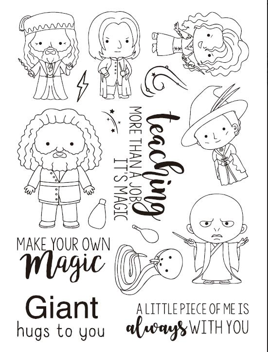 Magician Transparent Clear Silicone Stamp Seal DIY Scrapbooking photo Album Decorative Clear Stamp A327 about lovely baby design transparent clear silicone stamp seal for diy scrapbooking photo album clear stamp paper craft cl 052