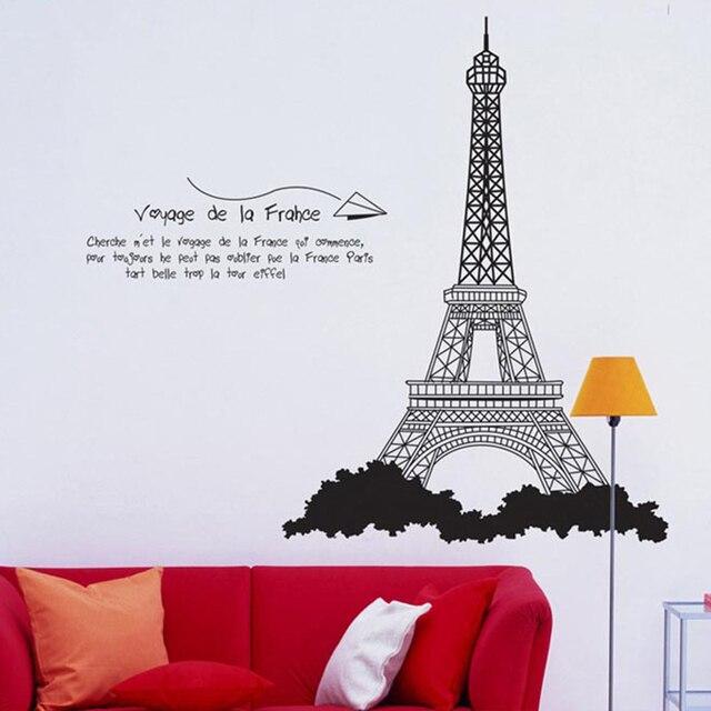 Bon 3D Paris Eiffel Tower Wall Stickers For Kids Rooms Nursery Vinyl Art Decal  Home Decor Mural