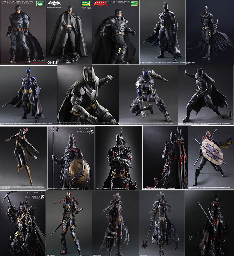CRAZY TOYS Play arts PLAYARTS KAI FIGURE Batman Superman Batgirl Deadpool Robin DC marvel Avengers joker PVC figma Model Toy