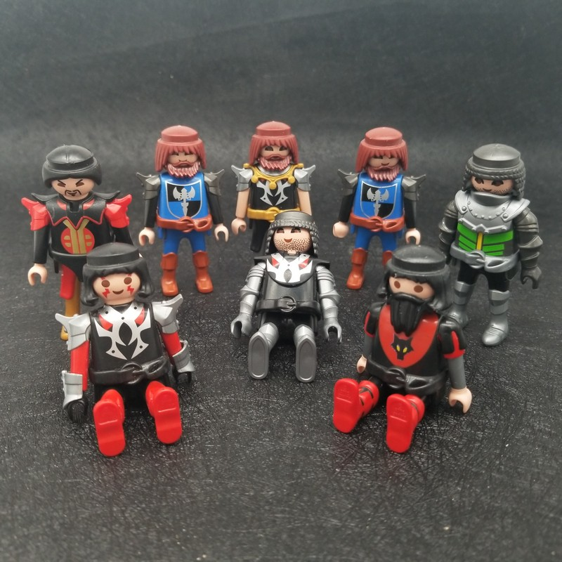 8 Styles Playmobil Suit Boy Soldier Knight Warrior Hero Action Figures Castle Child Model Doll Role Play Toy On Sale X059