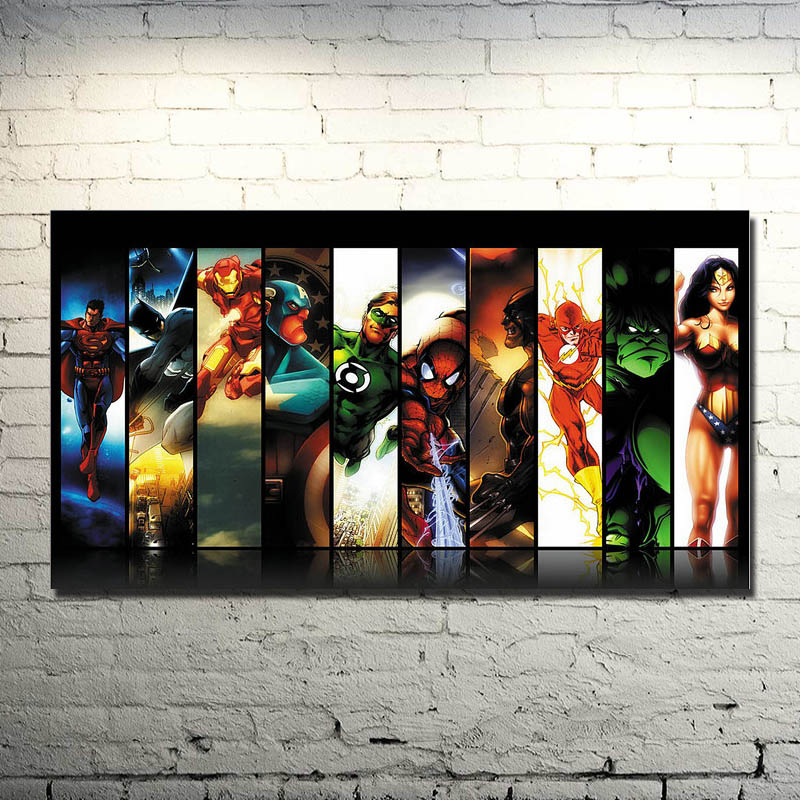 Comics Marvel Avengers Superhero Art Silk Poster 13x24 inches Decor (NEW)