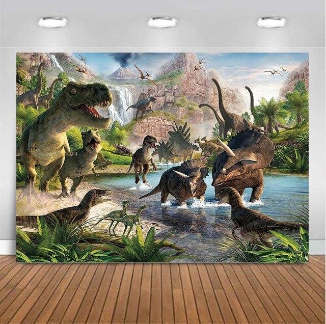Jurassic World Dinosaur Safari Jungle Birthday Party Photography backdrops Studio Photo backgrounds for photo photographers