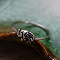 Sterling Silver Elephant Ring 2