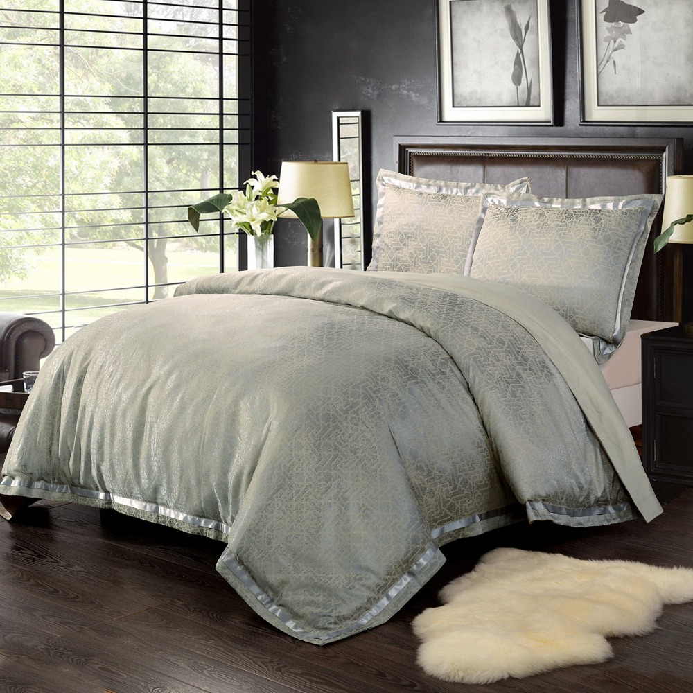popular gold bedding setsbuy cheap gold bedding sets lots from  - yarn dyed poly silk bamboo cotton jacquard bedding set gold  duvet coverand pillow case