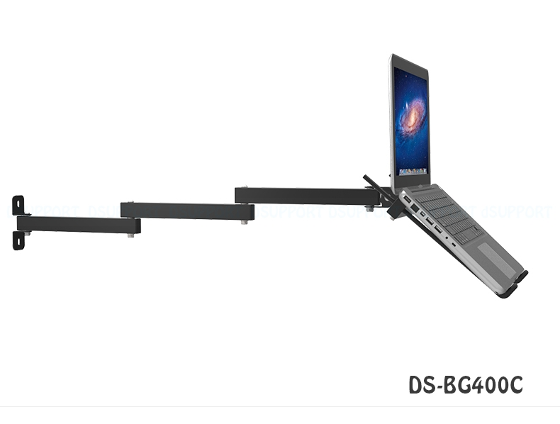 Foldable Wall Mount 17 27 Inch Laptop Holder Three Arms