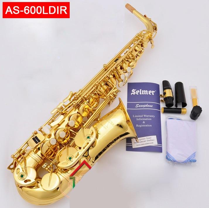 USA conn selme AS-600LDIR sassofono contralto Eb elettroforesi oro sax Saxofone professionale di strumenti A Fiato con il caso scatola